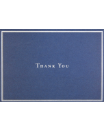 Boxed Thank You Cards - Navy Blue & SIlver