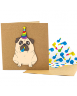 Greeting Card - Party Pug