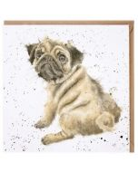 Greeting Card - Pug Love