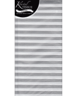 Silver & White Stripe Tissue Paper - 3 Sheets
