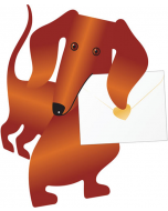 3D Greeting Card - Weeny the Dachshund