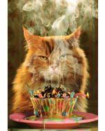 Birthday Card - Cat & Cupcake