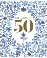 50th Birthday - Blue Flowers