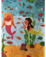 Folded Wrapping Paper - Mermaids Under the Sea