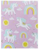 Folded Wrapping Paper - Unicorns on Pink