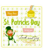 St. Patrick's Day Card- Luck and Joy