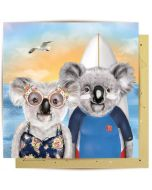 Greeting Card - Koala Surfers