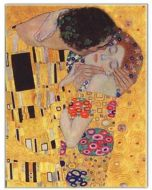 Greeting Card - The Kiss by Gustav Klimt
