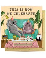 Greeting Card - Koala & Wombat Party