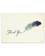 Boxed Thank You Cards - Watercolour Quill