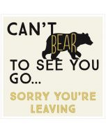 BIG Card - Sorry You're Leaving (Bear)