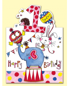 '1 Today Happy Birthday' Card