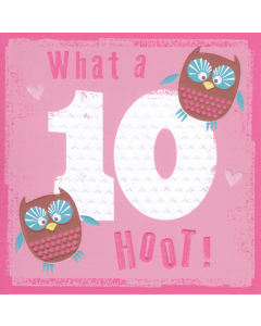 '10 What a Hoot' Card