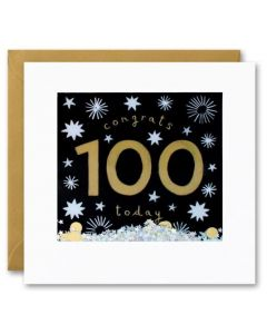 100th Birthday - Congrats gold sprinkes