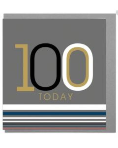 100th Birthday Card - Bold '100'