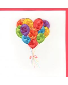 Quilling Card - Bunch of Balloons