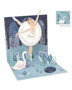 3D Pop-Up Card - Swan Lake