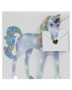 3D Card - Unicorn