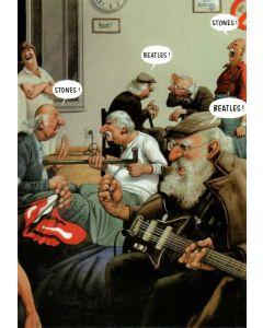 Greeting Card - Beatles vs Stones