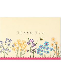 Boxed Thank You Cards - Sparkly Garden