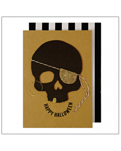 'Happy Halloween' Skull Card