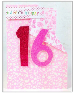 '16 Happy Birthday' Card