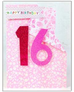 '16 Happy Birthday' Card