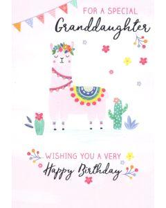 GRANDDAUGHTER Card - Llama