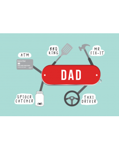Swiss Army Dad Card