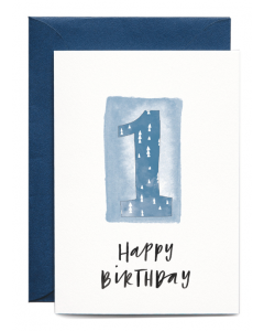 1st Birthday Boy Card