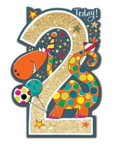 Age 2 - Dinosaur & balloons