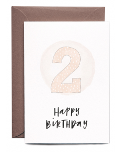 2nd Birthday Girl Card