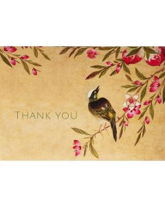 Boxed Thank You Cards - Peach Blossom & Bird