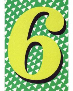 AGE 6 Card - Sparkly Six