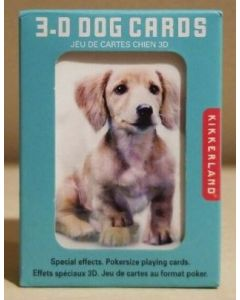 3D Dog playing cards