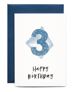 3rd Birthday Boy Card
