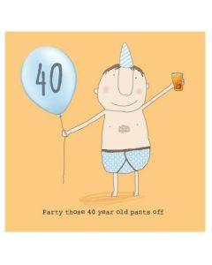 40th Birthday - man in his underwear