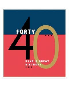 40th Birthday - Bold '40'