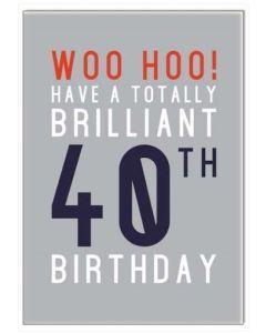 40th Birthday - 'Woo Hoo'