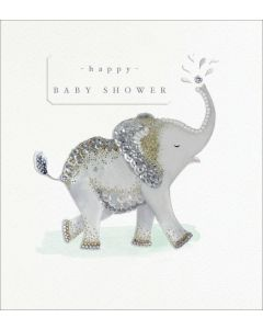 BABY SHOWER Card - Happy Elelphant