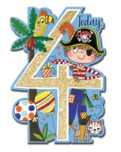 Age 4 - Pirate, parrot & palm tree