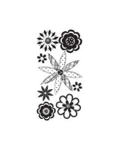 Black Sketch Flower Essentials Stickers