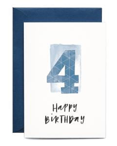4th Birthday Boy Card
