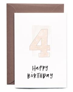 4th Birthday Girl Card