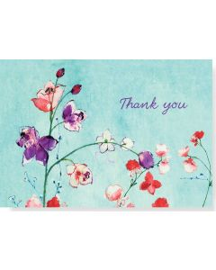 Boxed Thank You Cards - Fuchsia Blooms
