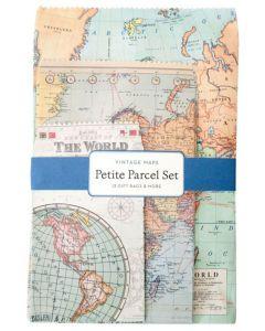Petite Parcel Set - Vintage Maps