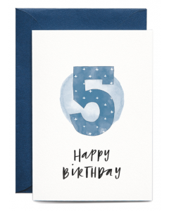 5th Birthday Boy Card
