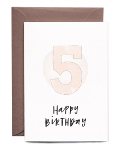 5th Birthday Girl Card