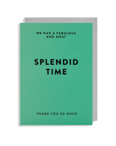 THANK YOU Card - Splendid Time