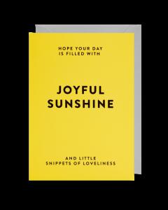 Greeting Card - Joyful Sunshine